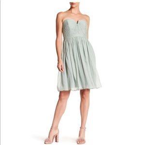 Nadia Silk Chiffon Bridesmaids Dress - Dusty Shale